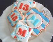 Monogram Cookies - custom decorated sugar cookies