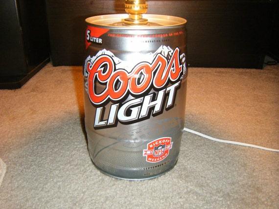 Coors Light Mini Keg Lamp