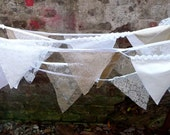 8m BUNTING gold / ivory lace for weddings, parties, decoration