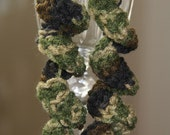Spiral Crochet Earrings- Camo