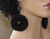 Crochet Earrings- Black