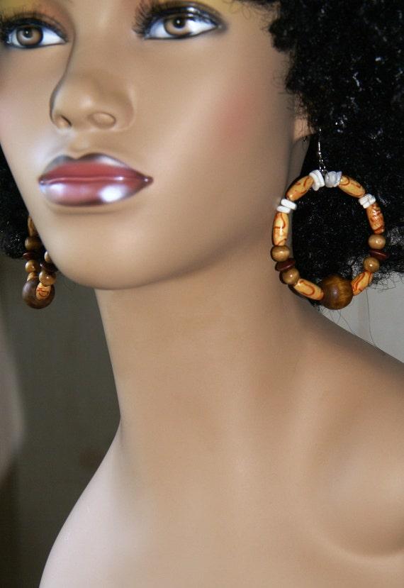 Tribal Inspired Beaded Earrings
