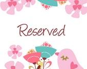 Reserved Listing for ANTOINETTE