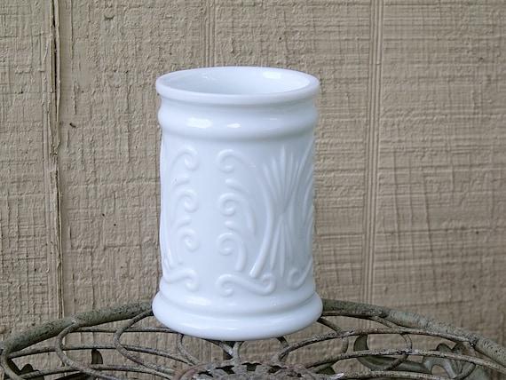 Vintage Milk Glass Small Vase