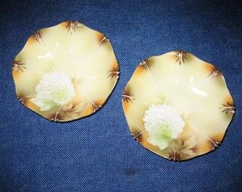 Antique Vintage R S Prussia Bowls Gold Trim Floral Motif 1890s 1900s Porcelain Collectable
