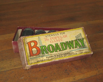 Rare Antique Utensils For The Popular Game Broadway (Parker Brothers)