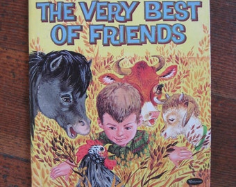 Vintage Children's Book - The Very Best of Friends (Whitman Tell-A-Tale Book 1963)