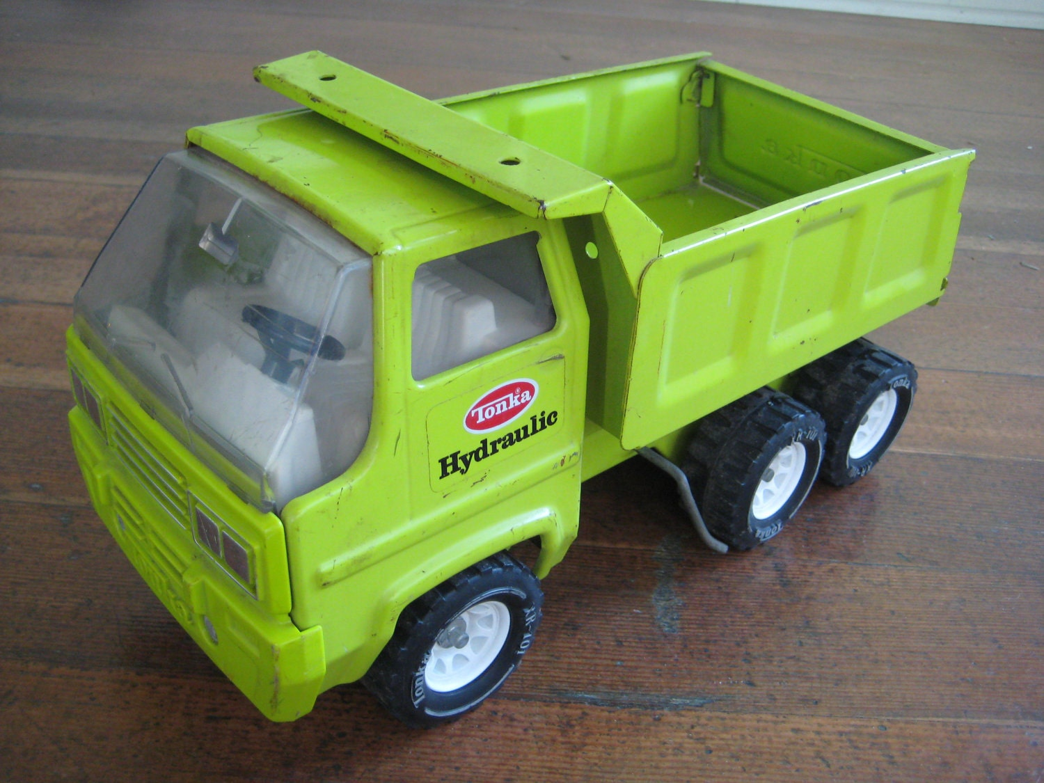 Green Toy Truck : Reserved for meghan vintage tonka green metal toy dump truck