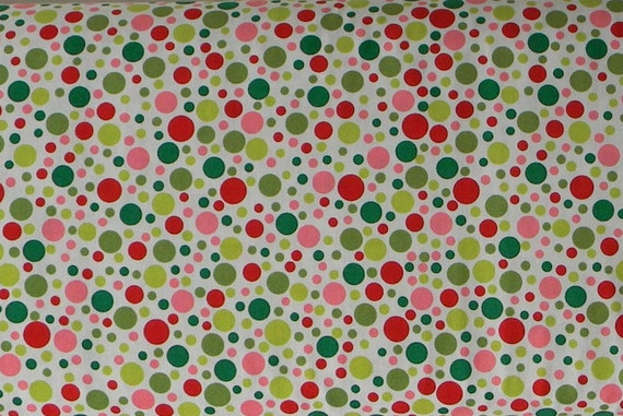 End of Bolt - 1.5 Yards - Play Dot in Santa - Michael Miller Fabrics - CX3136-SANT-D