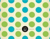 Aqua and Green Polka Dot Party Invite - as seen on Apartment Therapy Feature