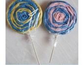 Lollipop Party Favors/Decoratives- Set of Four