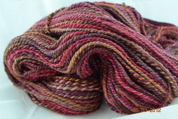 Handspun BFL Wool Worsted weight yarn 194 yards