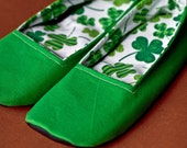 Green Shamrock House Shoes,  Only size 7 available