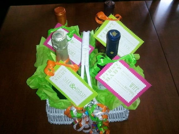 Items similar to Unique Wine Wedding Baskets on Etsy
