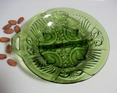 1970's Indiana Glass Killarney Divided Relish Dish in Olive Green