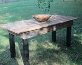 6 Foot Harvest Table Reclaimed Hardwood