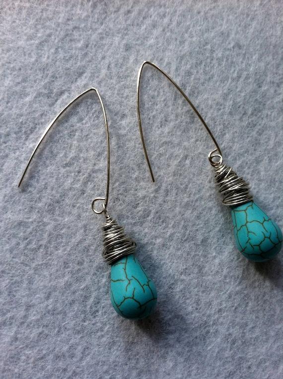 SALE Turquoise Drop Earrings