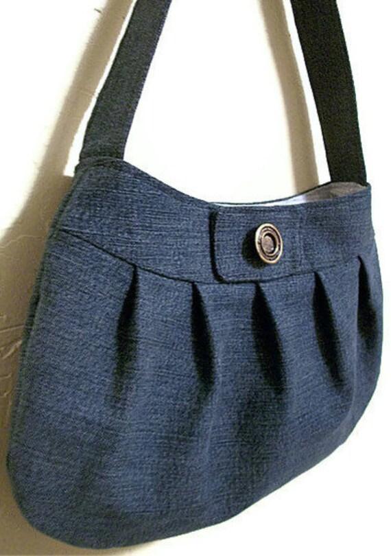 Small Fabric Purse Denim Handbag Jeans Buttercup Bag