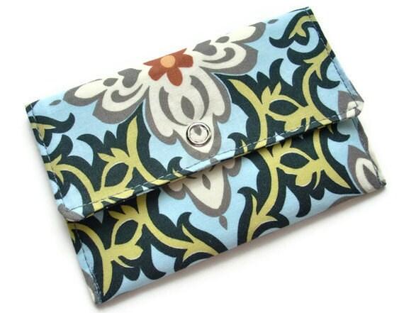 Gift Card Holder, Fabric Wallet, Lotus Flower