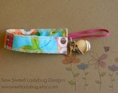 Soothie Fabric Pacifier Clip in Owl Fabric READY TO SHIP!!