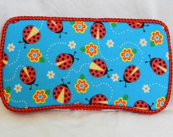 Baby Girl Travel Baby Wipe Case in Lady Bugs fabric READY TO SHIP!!