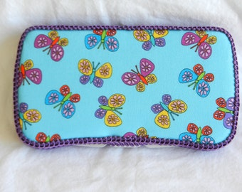 Baby Girl Travel Baby Wipe Case in Butterfly fabric READY TO SHIP!!