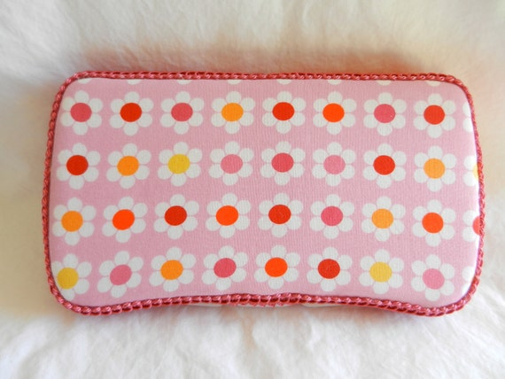 Baby Girl Travel Baby Wipe Case in Daisy fabric READY TO SHIP!!