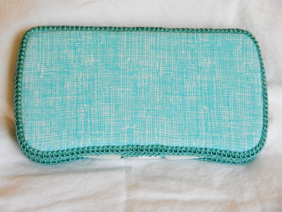 Organic Travel Baby Wipe Case in Timeless Treasures Organic Fabric Crosshatch  Wipe Case Ready to ship