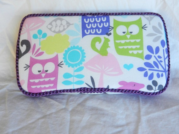 Travel Baby Wipe Case in Michael Miller Fabric in Forest Life Girl Wipe Case Ready to ship