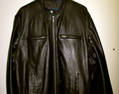 Cafe Racer Motorcycle Black Leather Jacket