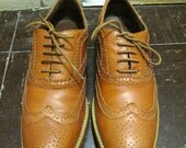 Wingtip Tan Leather Oxfords