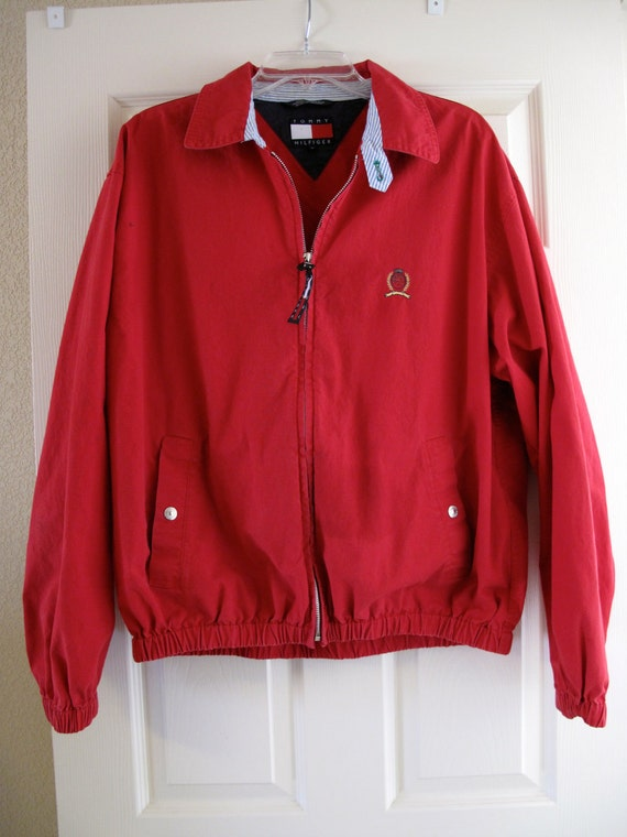 1980s Vintage Preppy Red Harrington Jacket