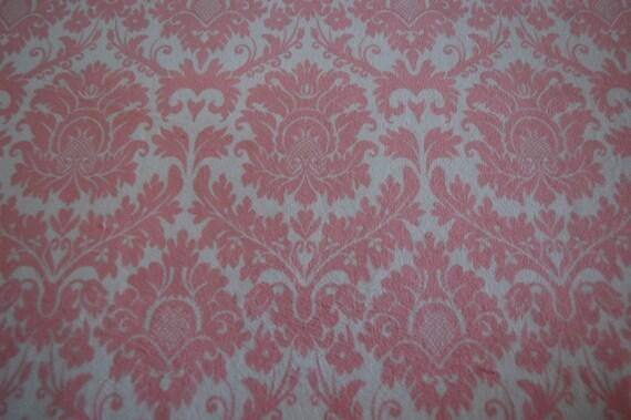 Pink Damask Minky