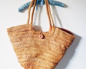 Large Vintage Straw Bag