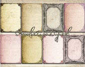 Tattered ATC ACEO digital background printable Collage Sheet nr 033