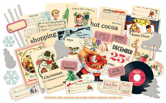 October Afternoon Holiday Style Miscellany Pack - Die-cuts and Embellishments