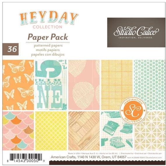 Studio Calico - Heyday -  6x6 Paper Pad -- MSRP 6.00