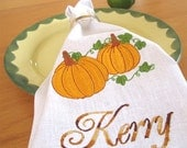 Fall Hostess Gift -Table Napkins Personalized - Set of 4 - Birthday Anniversary Gift Kitchen Decor Ecofriendly Reusable Dinner 18 Inch