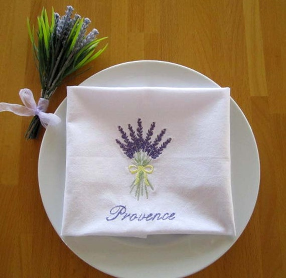 Embroidered Table Napkins - Provance - Set of 4 - Hostess Birthday Gift Provance Home decor