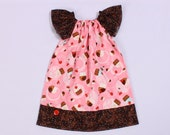 Tossed Cupcakes  and Cherries Summer Dress 3 months- 6T