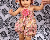 Baby Girl Floral Bubble Romper Preemie/Doll -4T