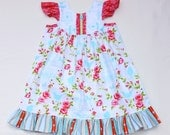 Tweet and Birdcages Flutter Dress 3 Months to 6T
