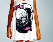 SID AND NANCY  white long tank or short dress one size M or L
