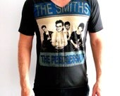 THE SMITHS peel session rock icons V Neck Mens T shirt size M