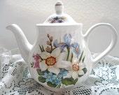 Vintage English Floral Teapot, Arthur Wood, Spring Flowers