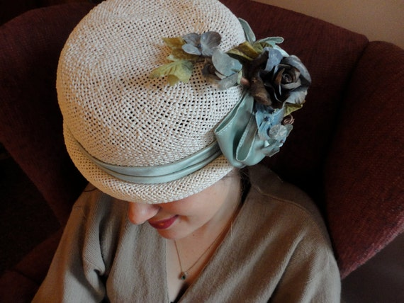 Vintage Ladies Hat, Shabby Chic Style