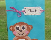Sweet Little Monkey Gift Bag- Medium