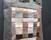 Leather weave Shoulder Purse,