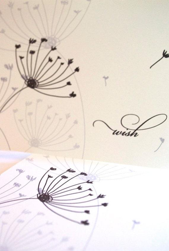 Dandelion Wishes Note Card Set