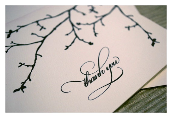 Winter Wedding Thank You Note Cards